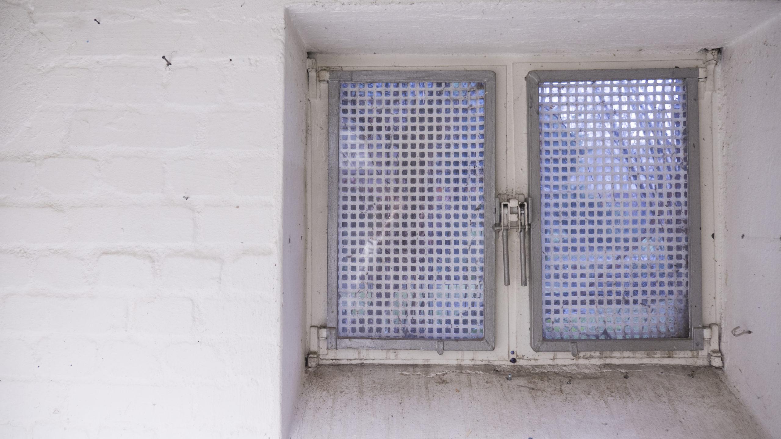 Reparaturbedürftiges Kellerfenster