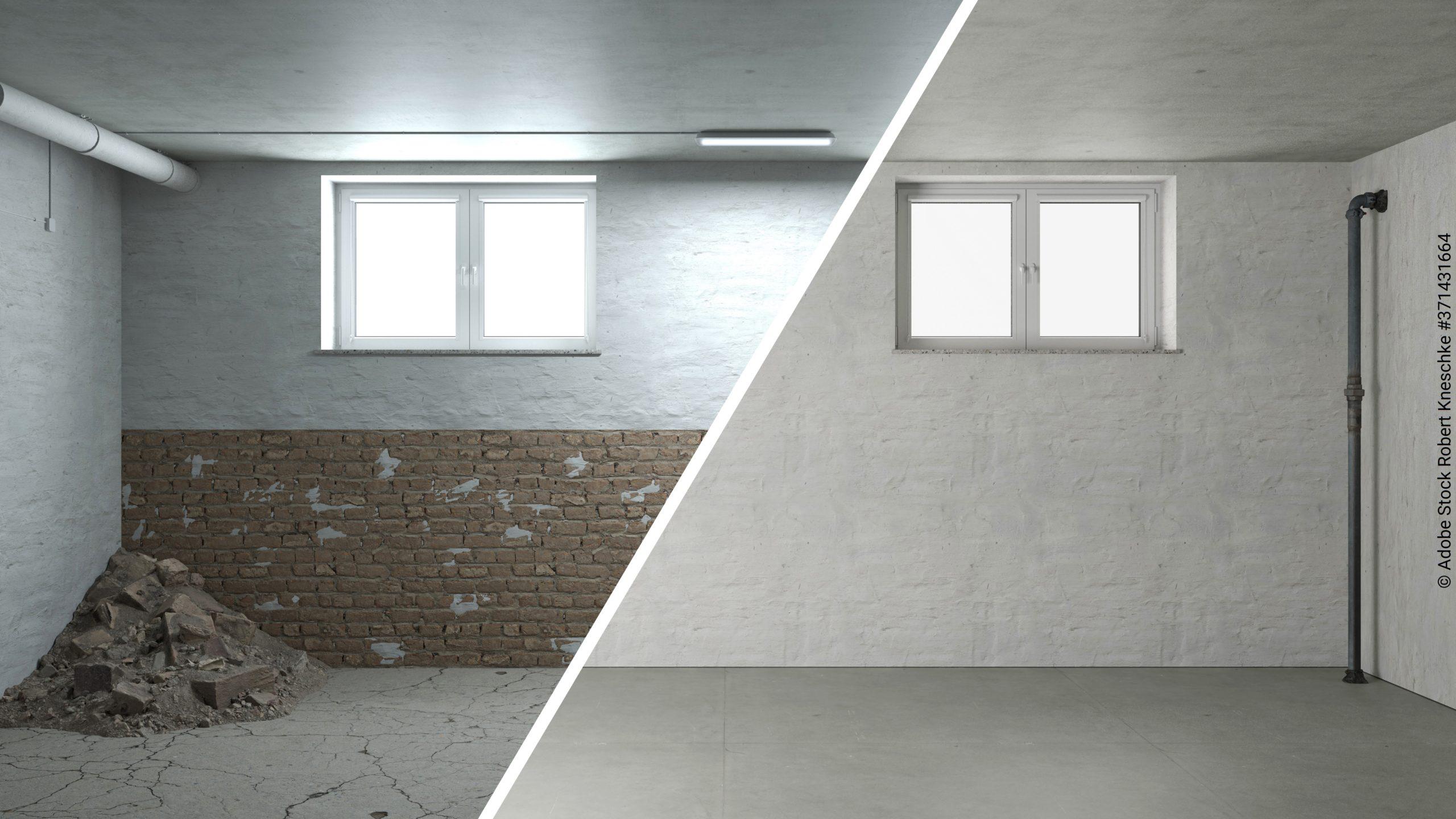 Sanierung und Renovierung von Mauerwerk im Keller